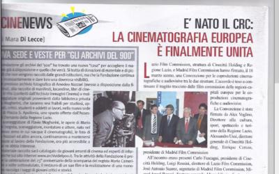CINECORRIERE: E' NATO IL CRC LA CINEMATOGRAFIA EUROPEA E' FINALMENTE UNITA