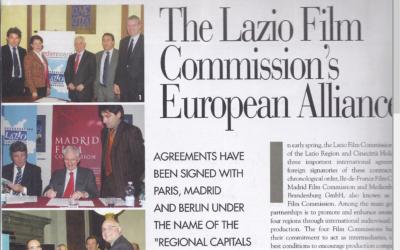 ITALIAN CINEMA: THE LAZIO FILM COMMISSION'S EUROPEAN ALLIANCE